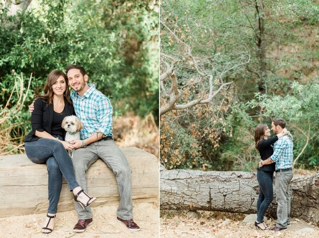 Emily and Jacob's Solstice Canyon Engagement Session // Photographed by Ventura County Wedding Photographer Katie Jackson