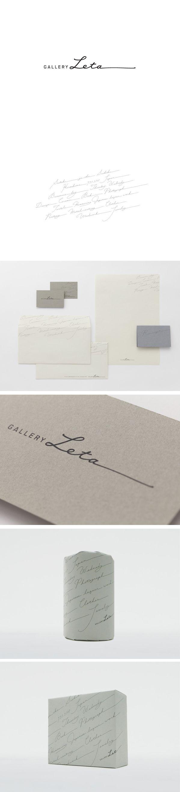 GALLERY LETA - Daikoku Design Institute / design / logo / branding / stationery /business card / signature and type - beautiful, elegant and classy design