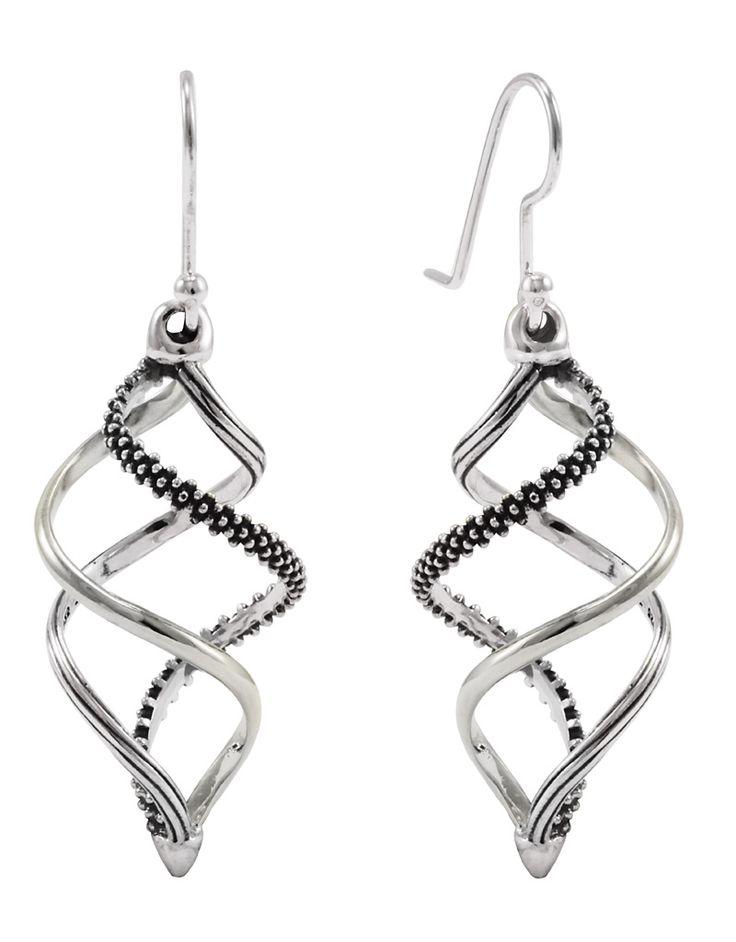 Lagos Jewelry Unlaced Drop Earrings Sterling Silver