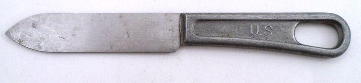 US Military Surplus USGI Mess Kit Hall Commissary Loop Handle Knife WWII WW2 Era