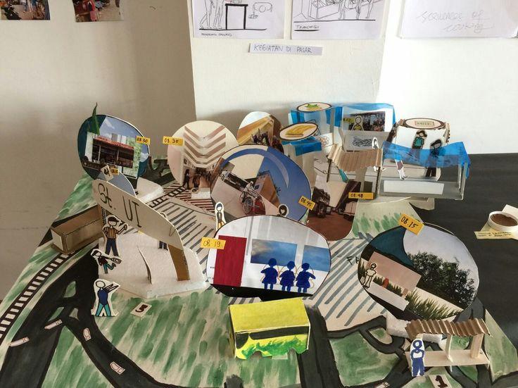 "Virania x Maghfirasari ""Trip to Kemiri Muka"" . Our storyboard on Urban Walk Project!   #architecture #model #building #art #design #story #urbanwalk"