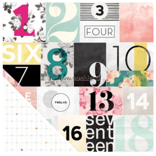 Pink Paislee C'est La Vie Double Sided Cardstock Paper 07