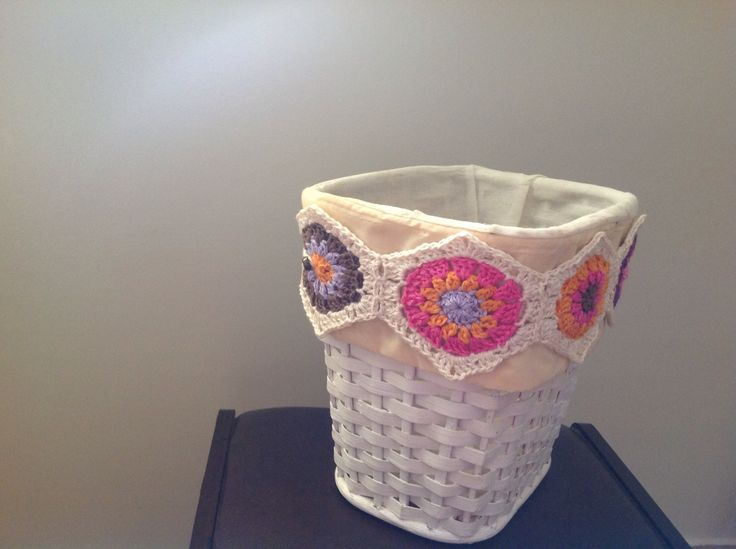 Crochet basket embellishment