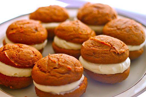 Pumpkin Whoopie Pies | TheCornerKitchenBlog.com #pumpkin: Pumpkin Whoopie, Fun Food, Whoopie Pies Spic, Recipes Whoopie, Desserts Treats, Corner Kitchens, Pumpkins, Favorite Recipes, Pies Spic Pumpkin