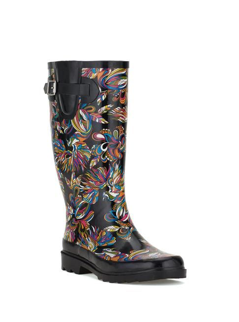 Unique and special, the artist printed rubber rainboots are ideal for  splashing around in the rain, snow, hail or whatever else mother nature  throws at you!