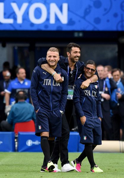 Gianluigi Buffon, Ciro Immobile, Lorenzo Insigne - Italy Training Session
