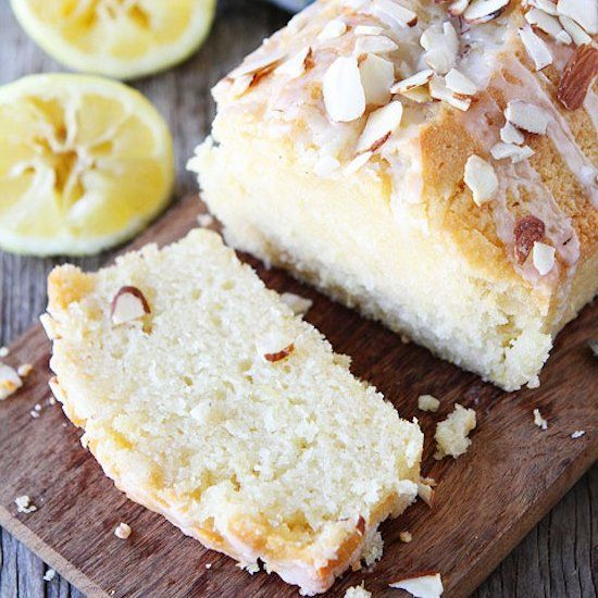 Lemon Almond Bread-this moist lemon bread is easy to make and great any time of day!