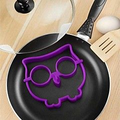 divertente gufo uovo fritto stampo in silicone cranio animale frittata 12.7 * 14 * 1,5 centimetri (colore casuale)
