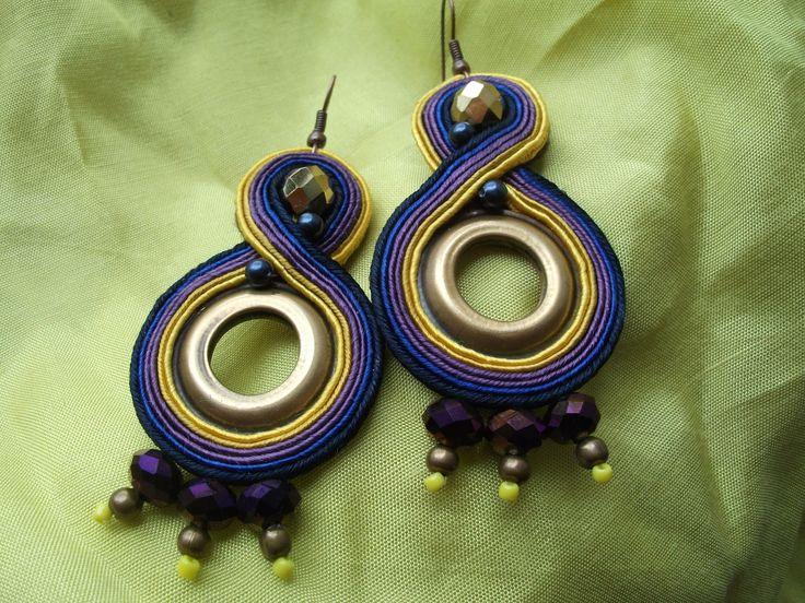 Seahorse Soutache Embroidery - Earring 2