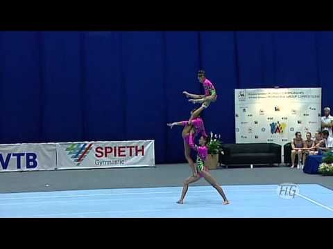 Acrobatic Gymnastics World Championships 2010 - Russia Women's Group 1st place... These ladies are amazing!!!