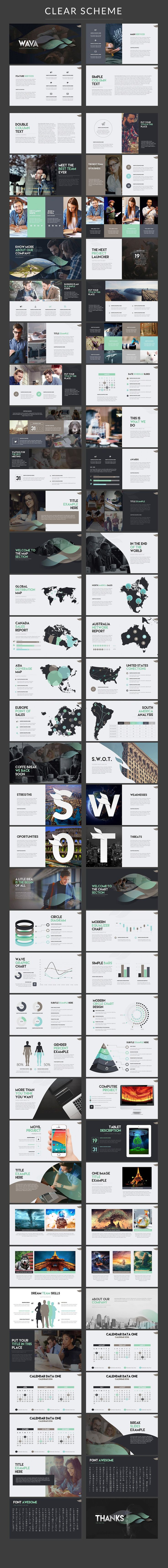 Wava | Powerpoint template + Bonus by Zacomic Studios on @creativemarket