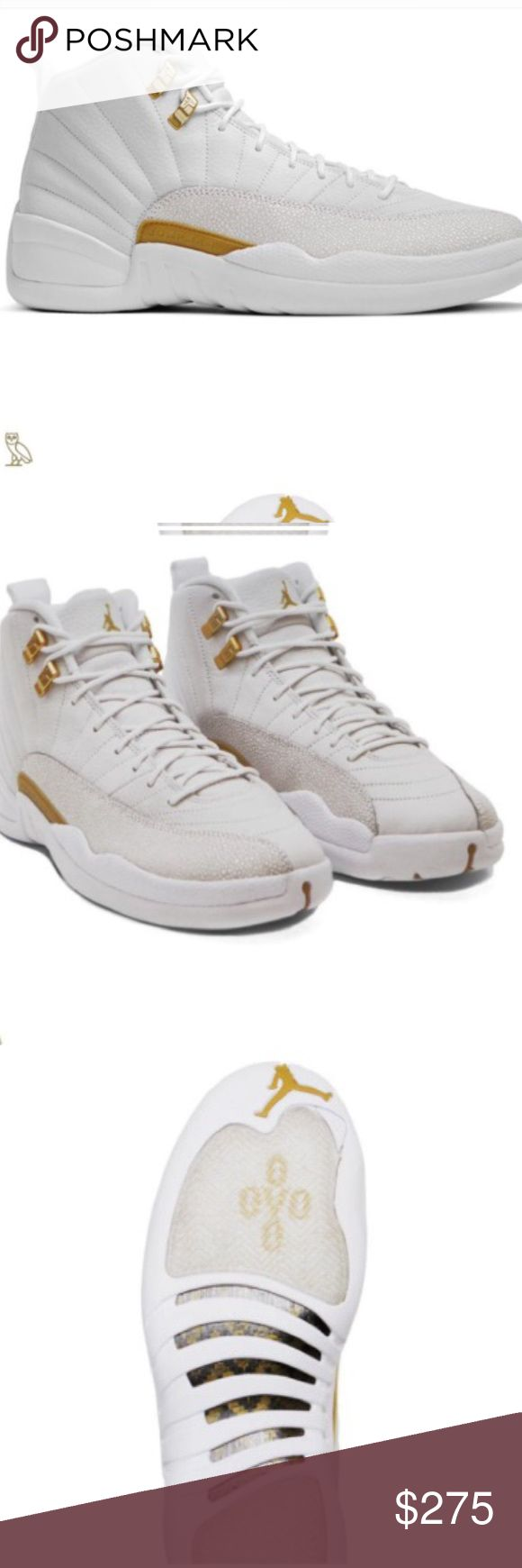 Jordan 12 OVO White/Gold PRE-ORDER YOUR-Brand New Jordan OVO 12's White/Gold Instagram @HeadsnapsUSA or Headsnaps@gmail.com Jordan Shoes Athletic Shoes