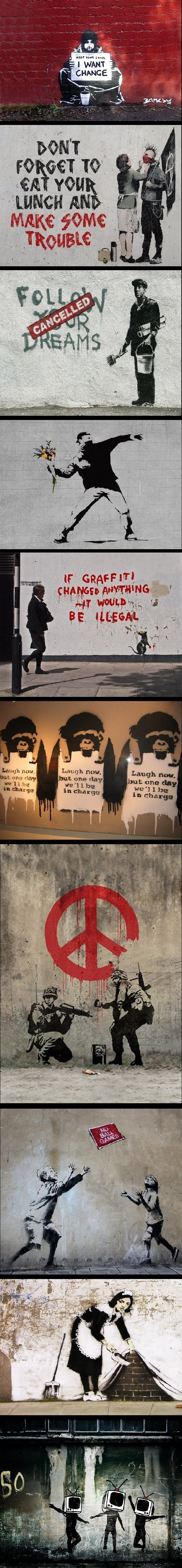 Banksy !! In love with all of his work ..