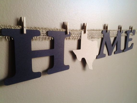 Home State Texas Sign Home State Banner College Decor