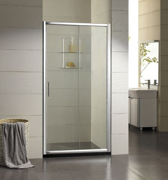 alpha pearl shower sliding door only 1m door only chrome finish frame http
