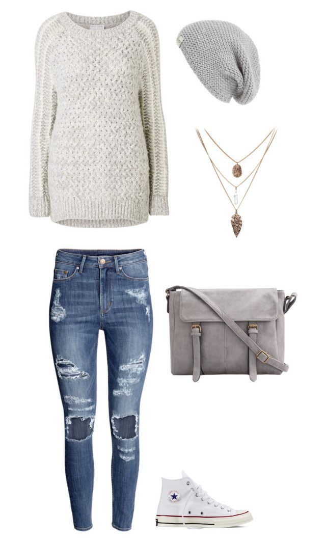 Lazy days with greys by jessmccallum0707 on Polyvore featuring polyvore, fashion, style, Witchery, H&M, Converse and UGG Australia
