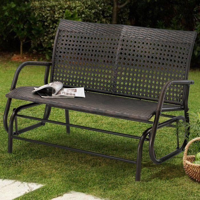 Outdoor Patio Glider Bench Rocker Loveseat Porch Deck Swing Wooden Furniture 4ft Outdoor Loveseat Patio Glider Porch Swing