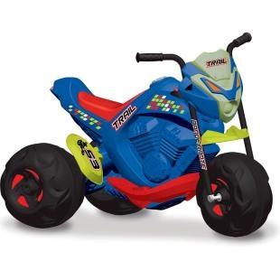 Moto Elétrica Infantil Bandeirante Trail - EL 6V, diversão para seu filho.    A moto no tamanho que faltava!