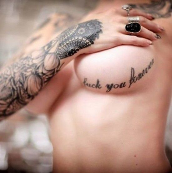 Here are 51 quite attractive and visually appealing under breast tattoos ideas for you to choose from and get yourself inked with.