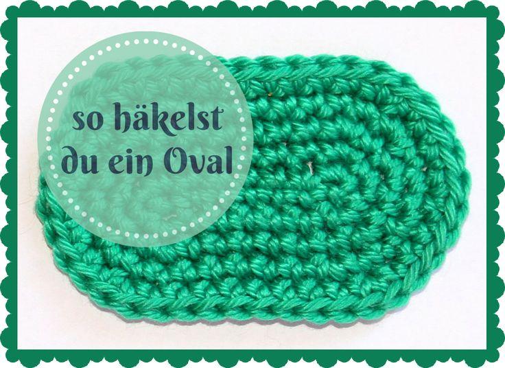 Ein Oval ist eine geometrische Grundform, die man beim Häkeln immer wieder mal brauchen kann, z.B. als Sohle für einen Schuh (Babyschuh oder Hausschlapfen) oder als Boden für eine Tasche. Das Oval ...