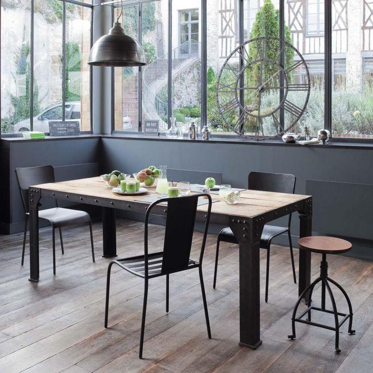 Table A Manger Bois Et Metal Lakesnake