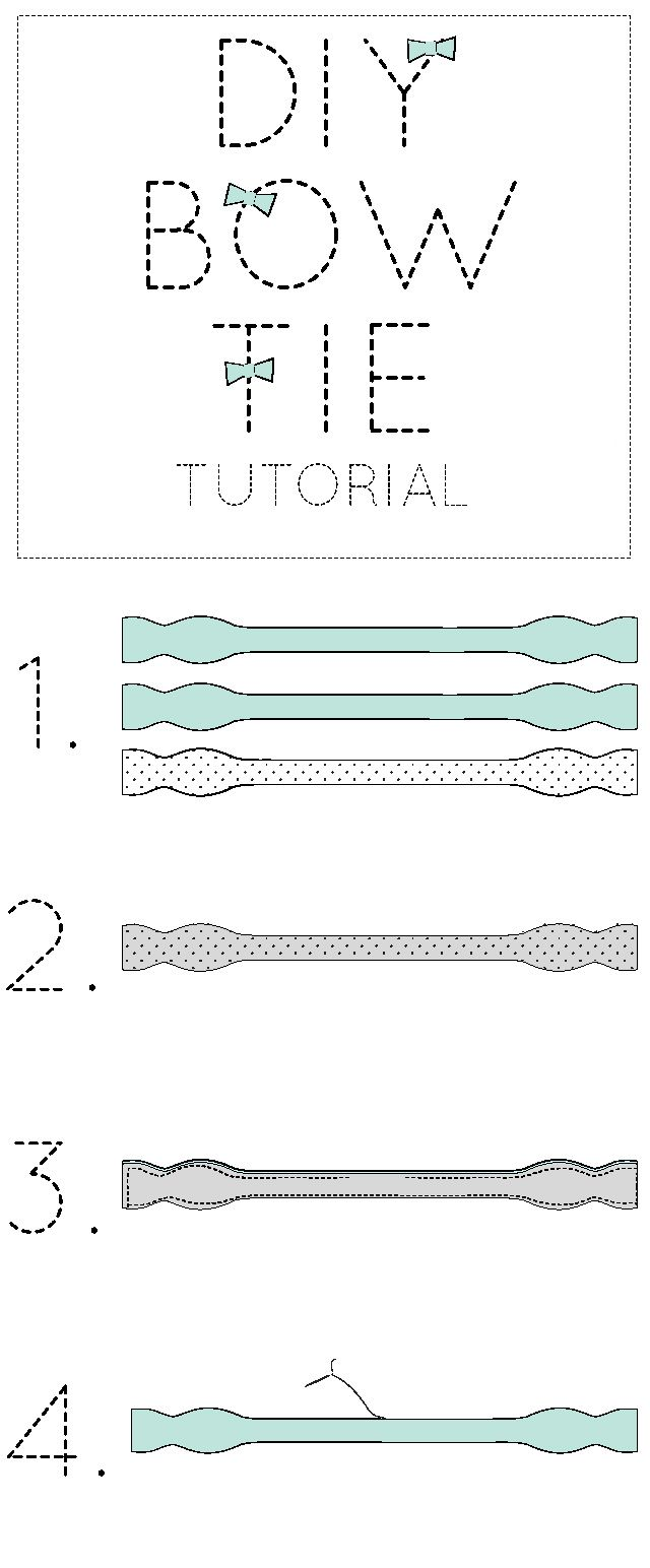Couture: MAKE YOUR OWN BOW TIE /// free and easy pattern. Materials: Fabric, silk, linen, cotton, etc. -Lightweight fusible interfacing