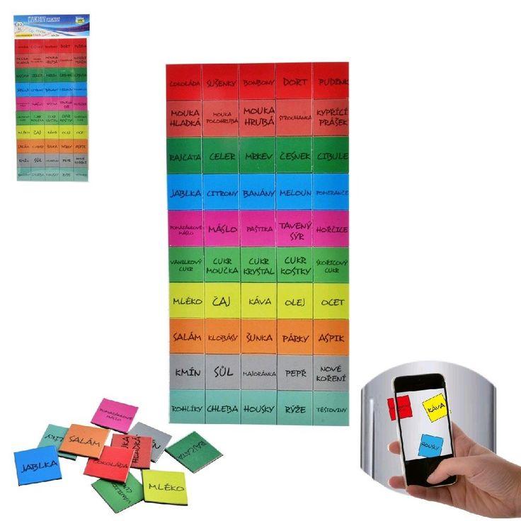 Magnety - barevná upomínka toho, co Vám v domácnosti došlo a je potřeba to dokoupit