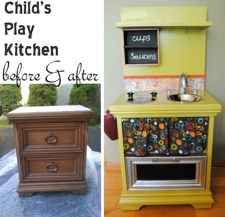 Diy Wooden Play Kitchen 31 best baker's dozen: diy play kitchens images on pinterest