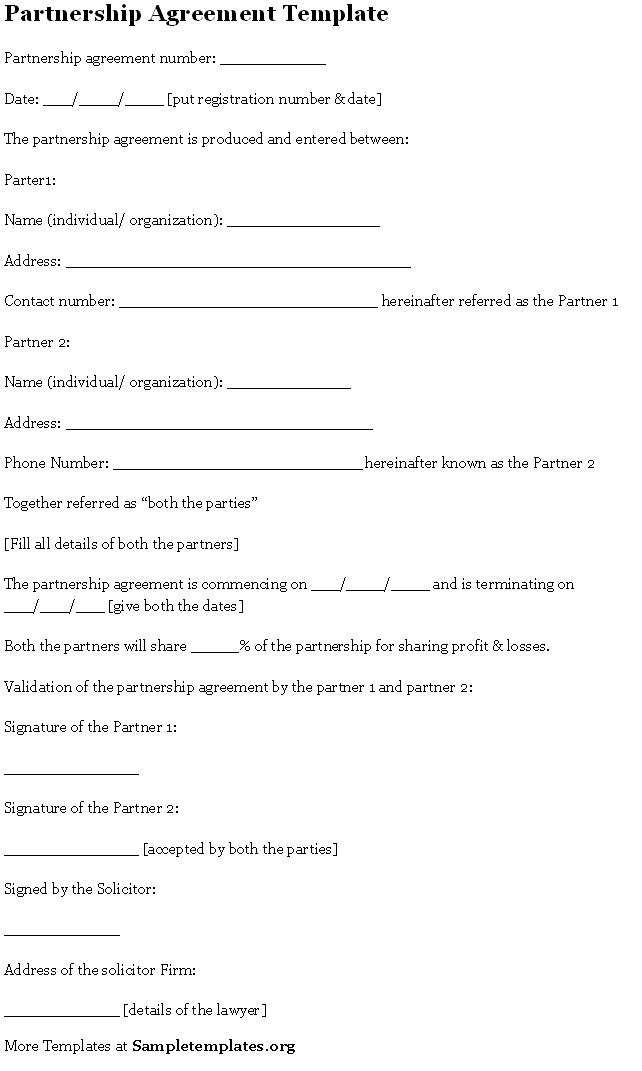Sample Templates (sampletemplates) on Pinterest - profit sharing agreement template