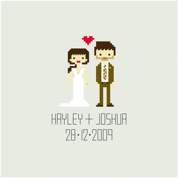 Cross Stitch Pattern  Custom Wedding//Gifts for