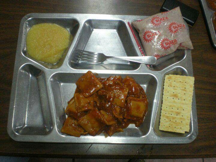 Bandeja de almuerzo del comedor escolar en p r boricua for Comedor escolar