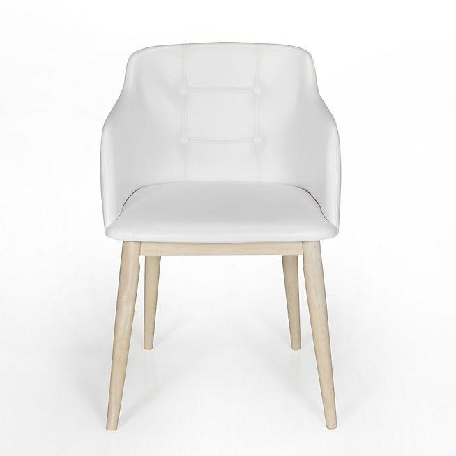 1000 id es sur le th me chaise capitonn e sur pinterest - Chaise blanche capitonnee ...