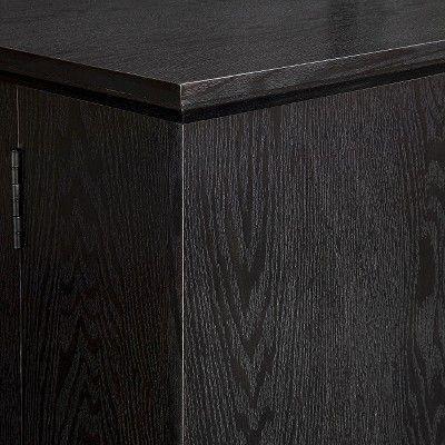 Wood Storage TV Stand With Mount - Black (60) - Walker Edison