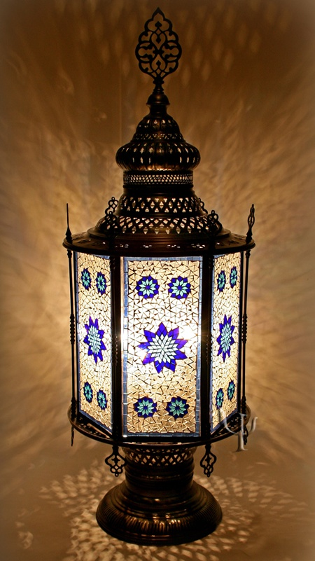 144 best images about mosaic lamps or lights on pinterest for White mosaic floor lamp