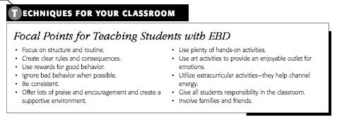 Teaching stratagies for teachers with students who suffer from EBD  #EmotionalAndBehaviorDisorders