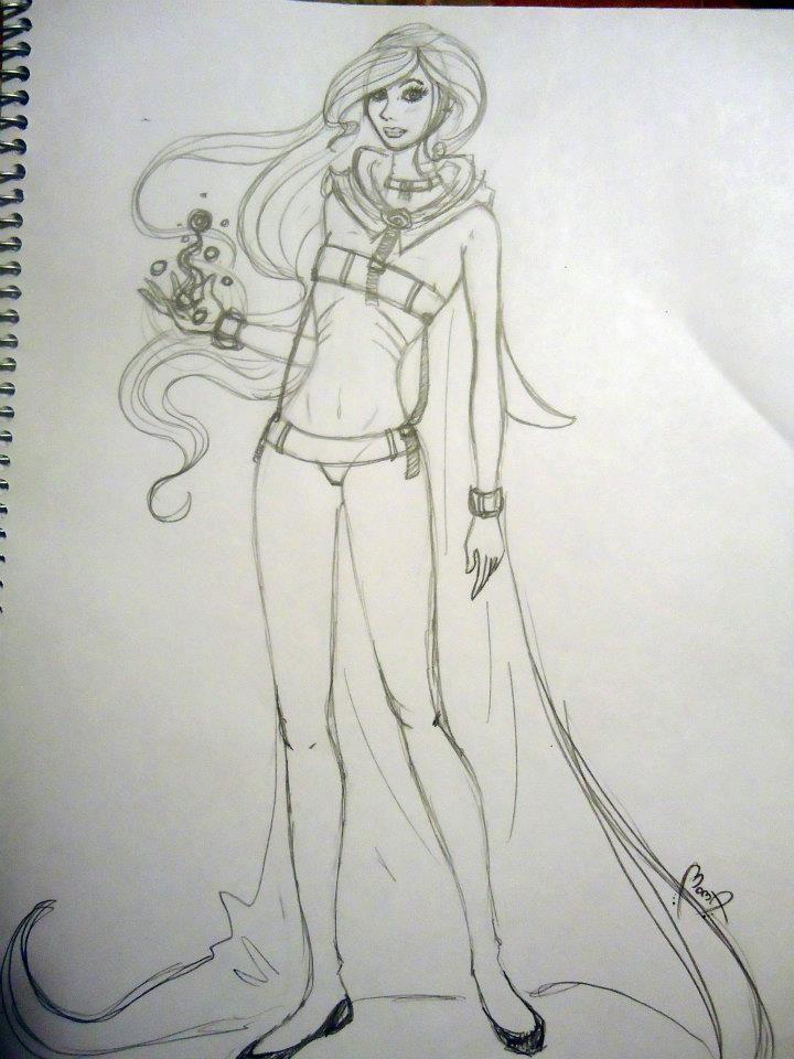 "Sketch ""Hero girl"" by Moma"
