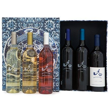 Babylonstoren Wine Range - Try our full range of wines or give it as a gift - wrapped in a beautiful Delft box.  What's inside: Chenin Blanc 2017 Viognier 2016 Mourvèdre Rosé 2017 Babel 2016 Shiraz 2016 Nebukadnesar 2015