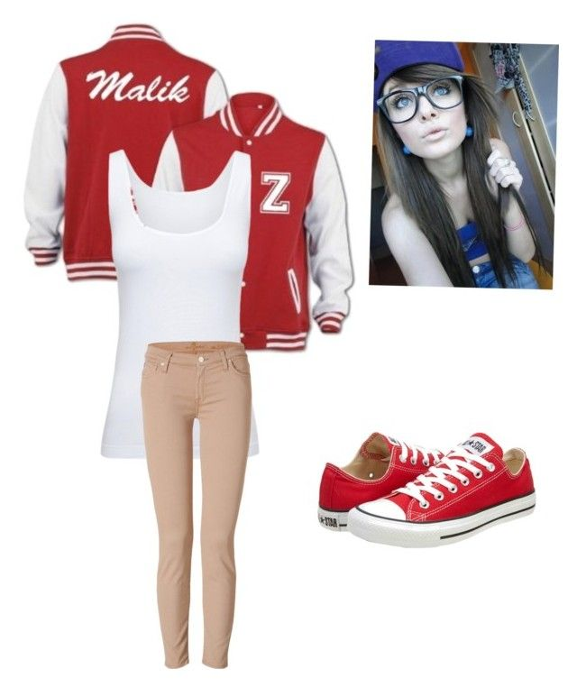 """Girl version of Zayn Malick :)"" by tomboy16 ❤ liked on Polyvore featuring Boody, 7 For All Mankind and Converse"