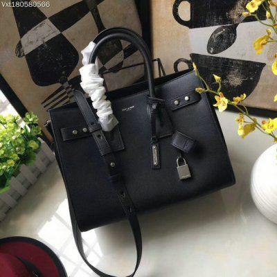 4829ca692 2017 New Saint Laurent Small Sac De Jour Souple Bag in black grained leather