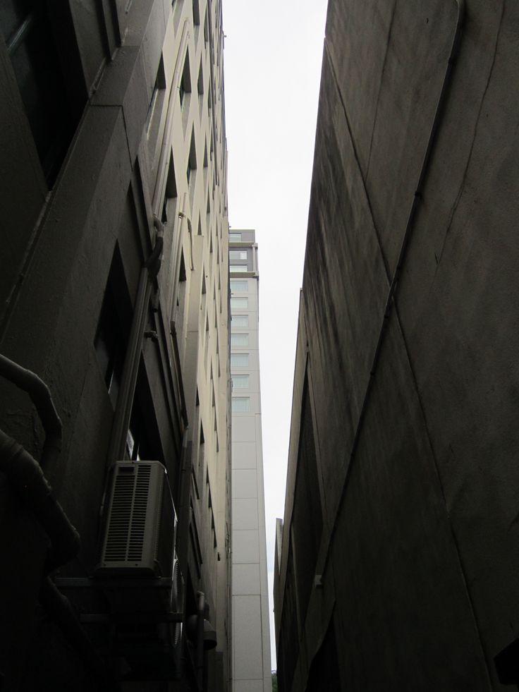 dark alleyway in Wellington