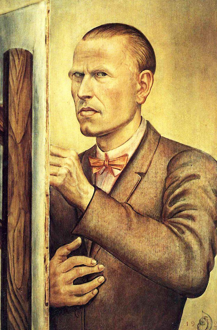 OTTO DIX. Autorretrato con caballete. 1926.