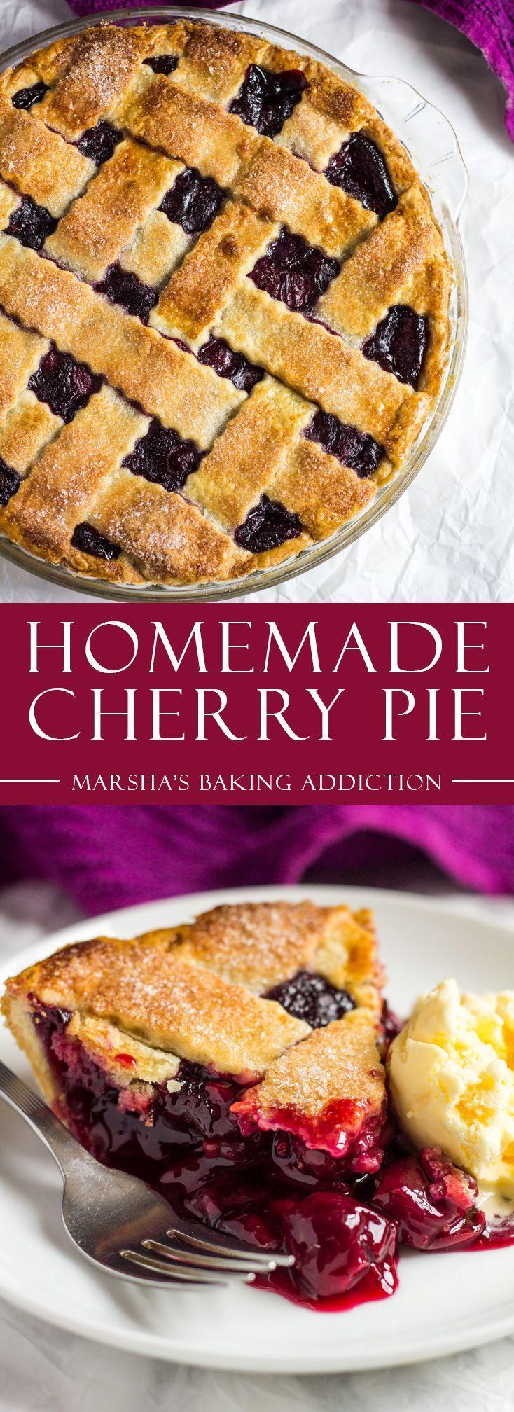 Homemade Cherry Pie | marshasbakingaddiction.com @marshasbakeblog