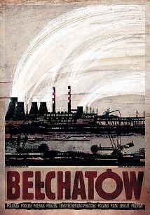 Bełchatów, plakat z serii Polska, Ryszard Kaja