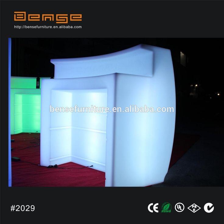 Wiederaufladbare Wasserdichte LED Möbel Garten Event Club Außen Theke Wiederaufladbare Kunststoff Führte Bar
