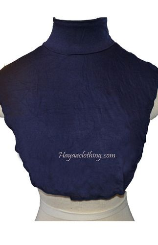 Muslim Neck Cover Islamic Clothing - Navy
