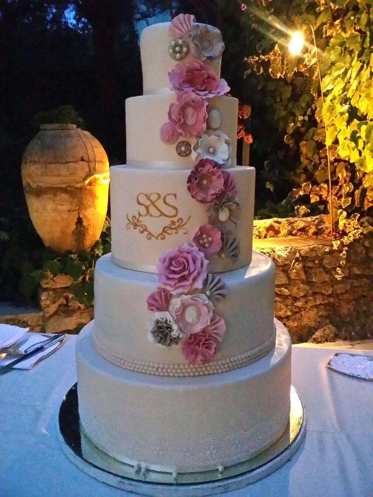 Wedding cake shabby,  milli's cake www.milliscake.jimdo.it