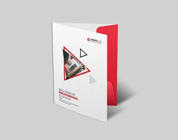 Simply Presentation Folder by Generous Art_2 on @creativemarket