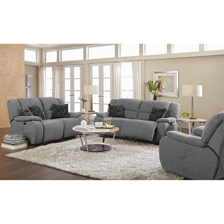 Chesterfield Sofa Destin Gray Power Reclining Sofa Value City Furniture