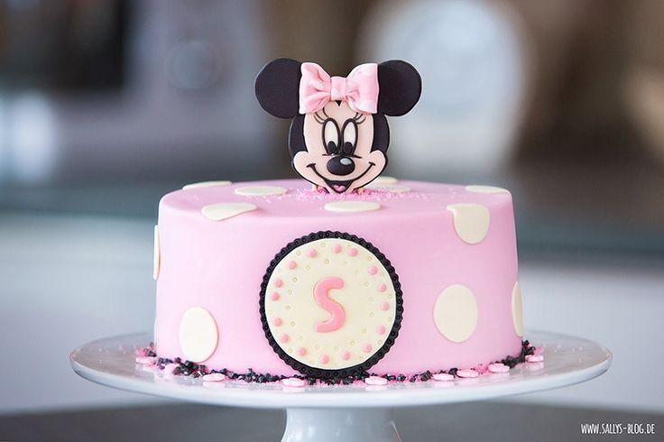 Sallys Blog - Minnie Mouse Motivtorte mit Aufsteller - http://www.sallys-blog.de