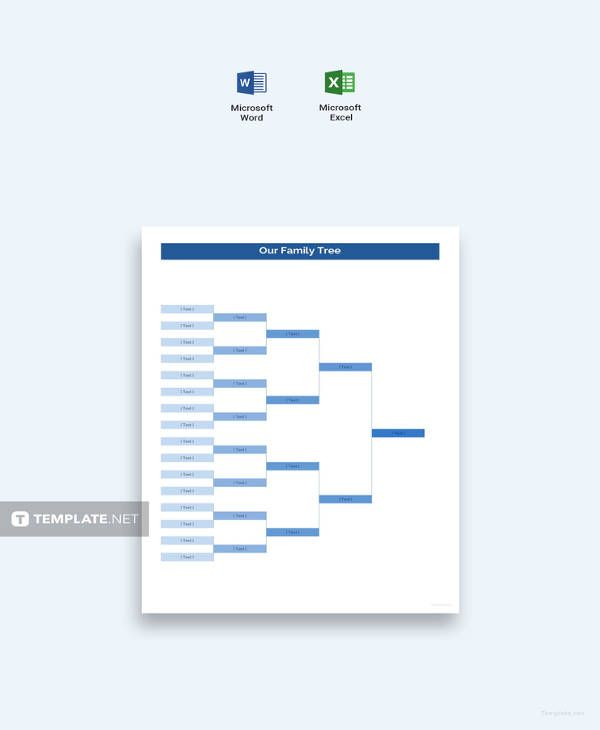Family Tree Diagram Template 20 Free Word Excel Pdf Free Premium Templates In 2020 Family Tree Chart Family Tree Diagram Family Tree